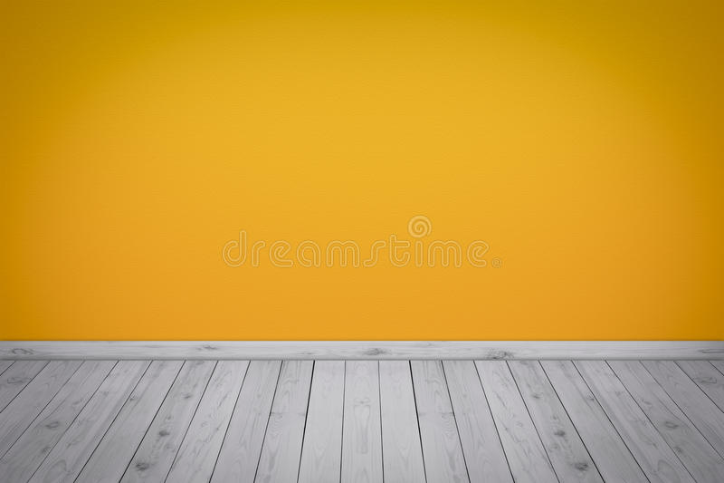 Παλαιό εσωτερικό με τον κίτρινο τοίχο στοκ φωτογραφία με δικαίωμα ελεύθερης χρήσης