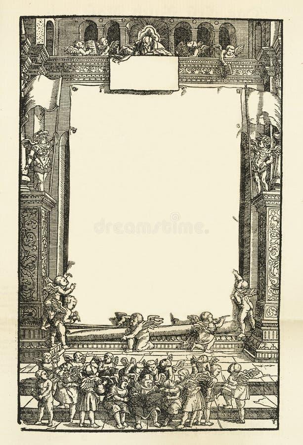 Παλαιό ηλικίας βρώμικο σύντομο χρονογράφημα σελίδων φύλλων εγγράφου βιβλίων, διάστημα αντιγράφων υποβάθρου πλαισίων στοκ εικόνες