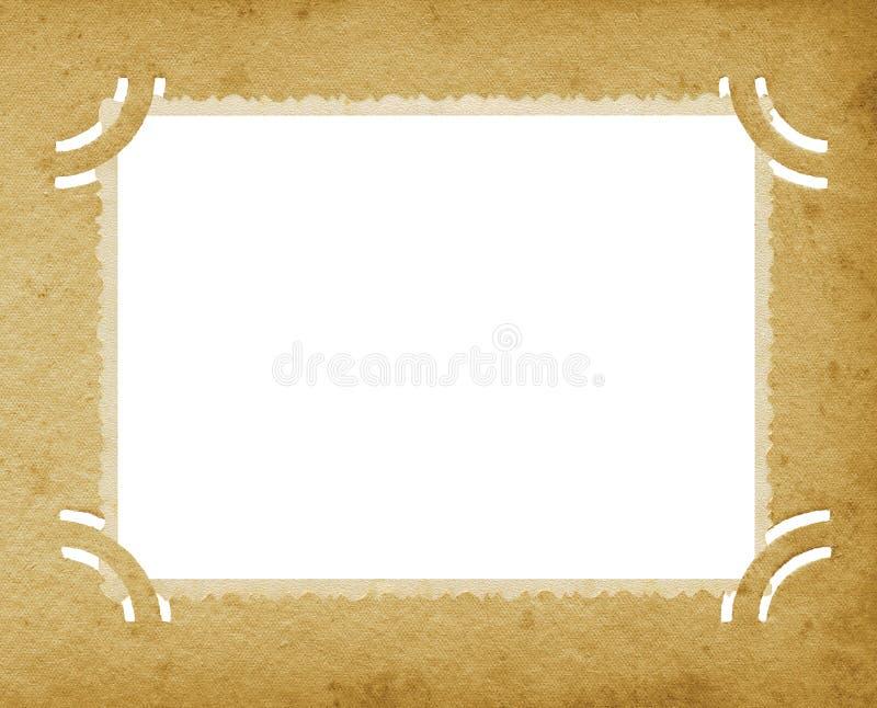 Παλαιό ηλικίας κάθετο κατασκευασμένο εκλεκτής ποιότητας αναδρομικό λεύκωμα Grunge φωτογραφιών ακρών ελεύθερη απεικόνιση δικαιώματος