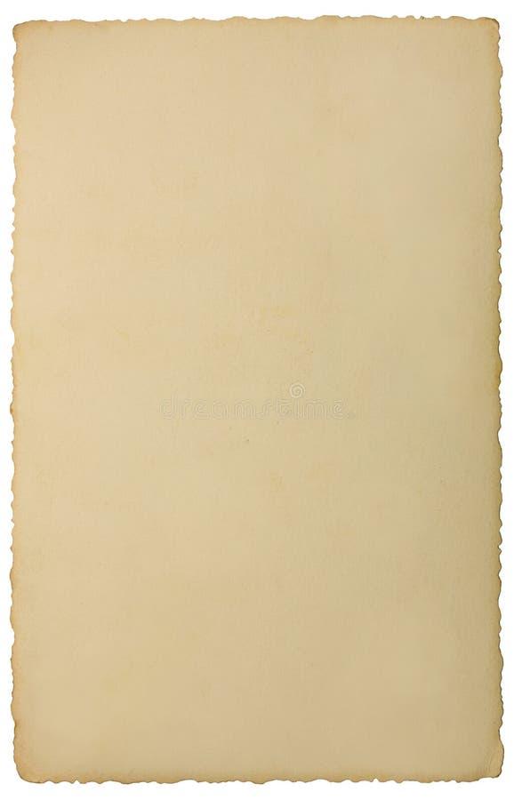 Παλαιό ηλικίας κενό κενό κάθετο υπόβαθρο φωτογραφιών σεπιών ακρών grunge, απομονωμένο κίτρινο μπεζ εκλεκτής ποιότητας διάστημα αν στοκ φωτογραφία με δικαίωμα ελεύθερης χρήσης