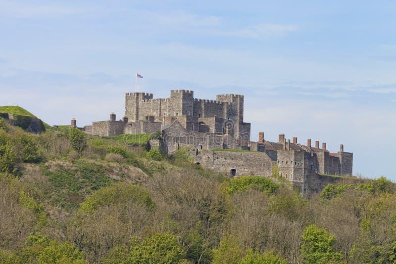 Παλαιό ιστορικό αγγλικό ορόσημο, μεσαιωνικό κάστρο του Ντόβερ στοκ φωτογραφία με δικαίωμα ελεύθερης χρήσης