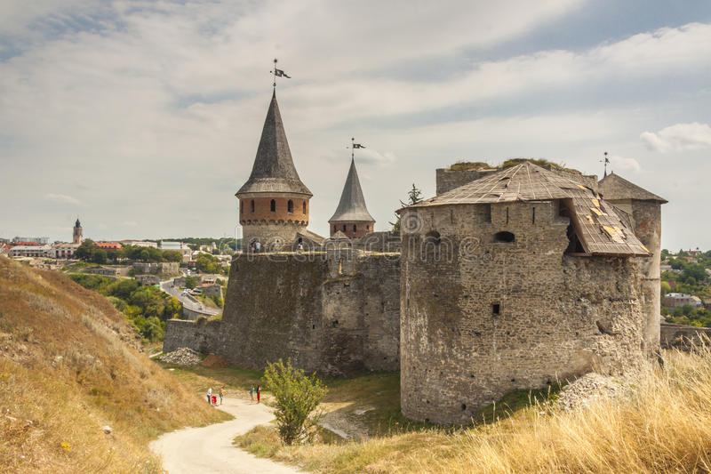 Castle σε Kamianets Podilskyi, Ουκρανία, Ευρώπη. στοκ φωτογραφία