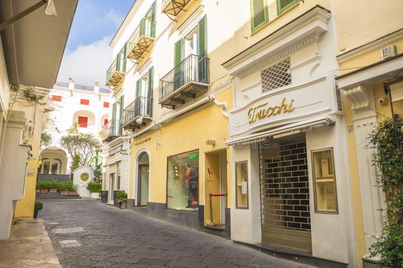 Παλαιό κέντρο του νησιού Capri στοκ εικόνα