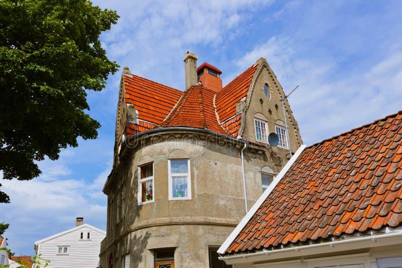 Παλαιό κέντρο του Stavanger - της Νορβηγίας στοκ εικόνες