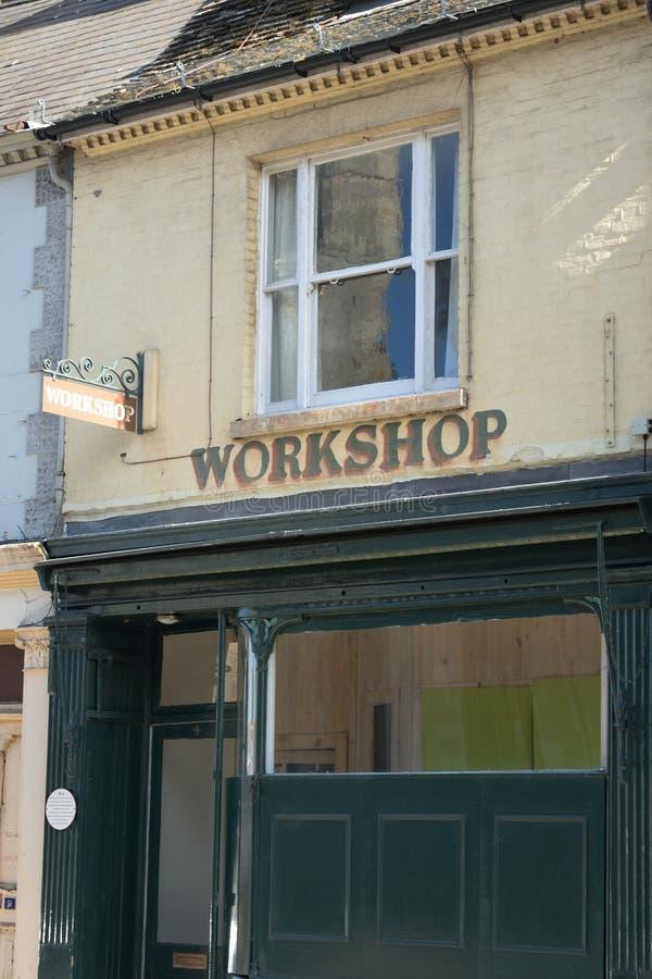 Παλαιό κτήριο εργαστηρίων στοκ φωτογραφία με δικαίωμα ελεύθερης χρήσης
