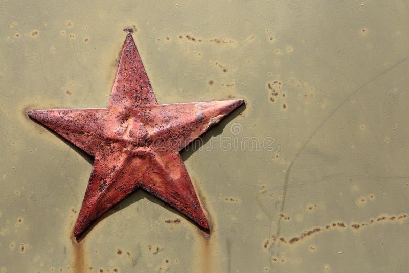 παλαιό κόκκινο αστέρι στοκ εικόνες