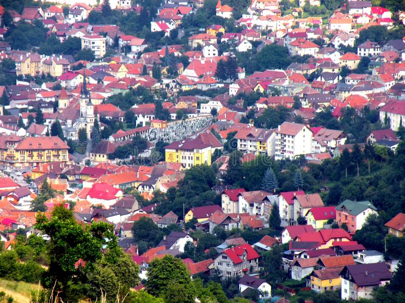 Παλαιό μέρος της πόλης Brasov (Kronstadt), Transilvania, Ρουμανία στοκ φωτογραφία