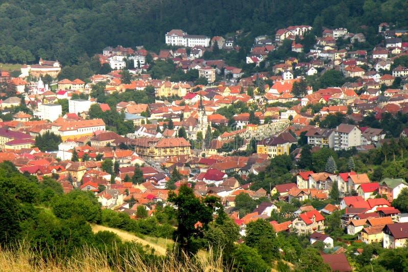 Παλαιό μέρος της πόλης Brasov (Kronstadt), Transilvania, Ρουμανία στοκ φωτογραφίες με δικαίωμα ελεύθερης χρήσης