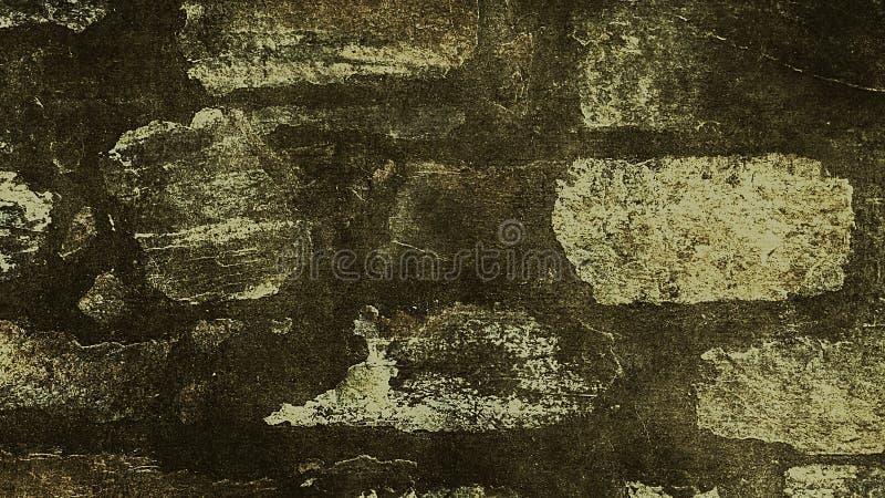 Παλαιό μαύρο και κίτρινο υπόβαθρο Σύσταση Grunge σκοτεινή ταπετσαρία πίνακας chalkboard απεικόνιση αποθεμάτων
