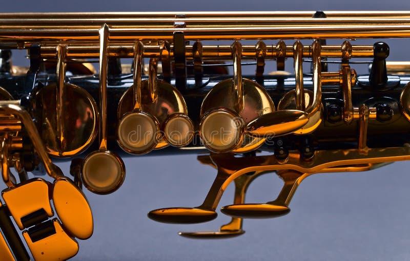 Παλαιό μαύρο saxophone στοκ εικόνα