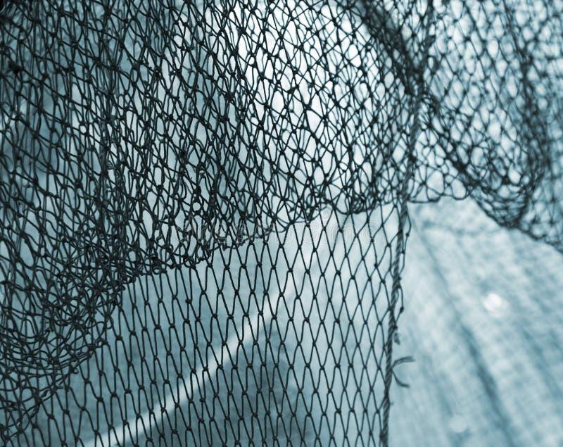 Παλαιό μπλε υπόβαθρο διχτυού του ψαρέματος στοκ φωτογραφία με δικαίωμα ελεύθερης χρήσης