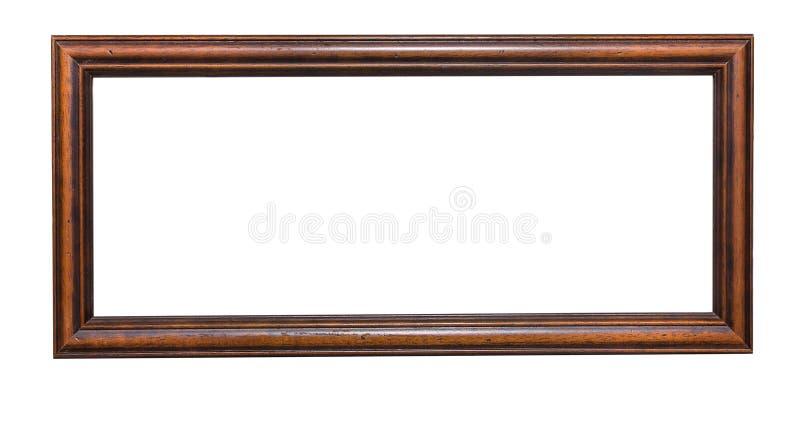 Παλαιό ξύλινο πλαίσιο στο λευκό στοκ εικόνα