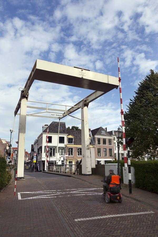 Παλαιό ξύλινο drawbridge στο κέντρο Maarssen στοκ φωτογραφία με δικαίωμα ελεύθερης χρήσης