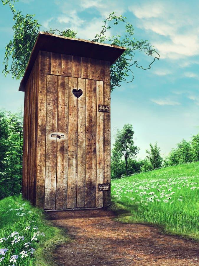 Παλαιό ξύλινο outhouse ελεύθερη απεικόνιση δικαιώματος