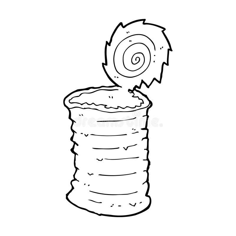 παλαιό δοχείο κασσίτερου κινούμενων σχεδίων διανυσματική απεικόνιση