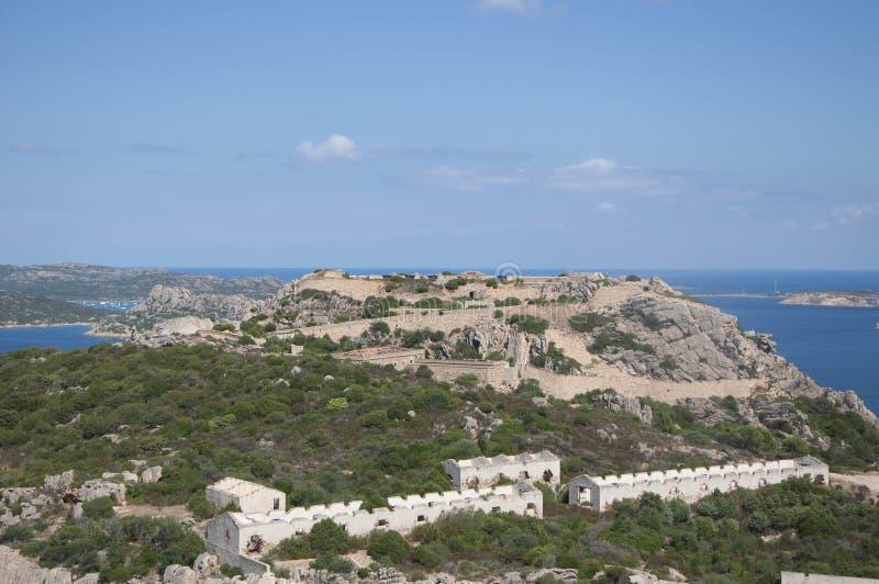 Παλαιό οχυρό nord Σαρδηνία στοκ φωτογραφίες