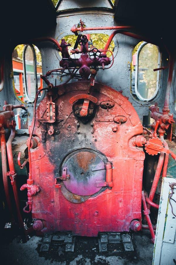 Παλαιό πανκ ατμού αμαξιών τραίνων στοκ φωτογραφία