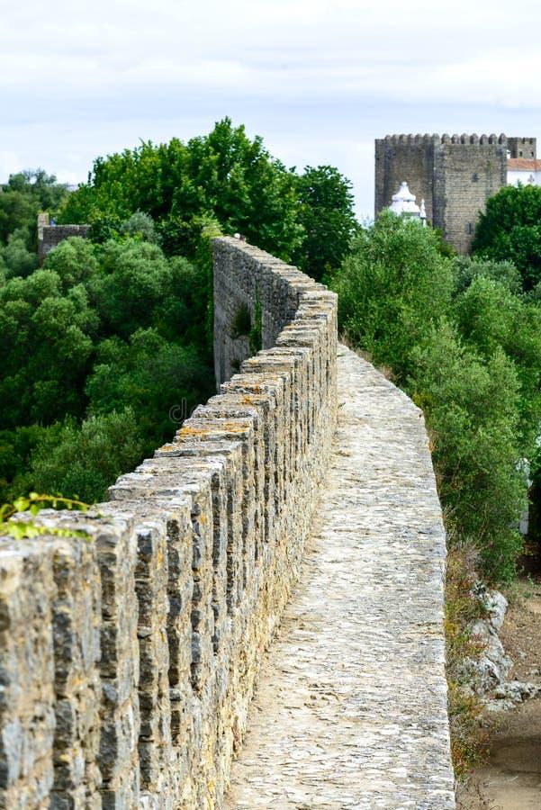 Παλαιό πρόχωμα σε Obidos (Πορτογαλία) στοκ εικόνες με δικαίωμα ελεύθερης χρήσης