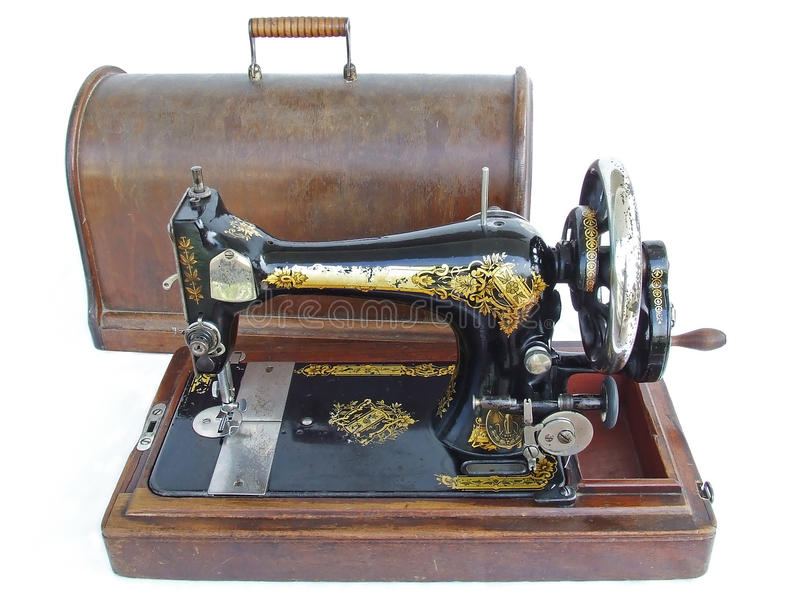 παλαιό ράψιμο μηχανών στοκ φωτογραφία