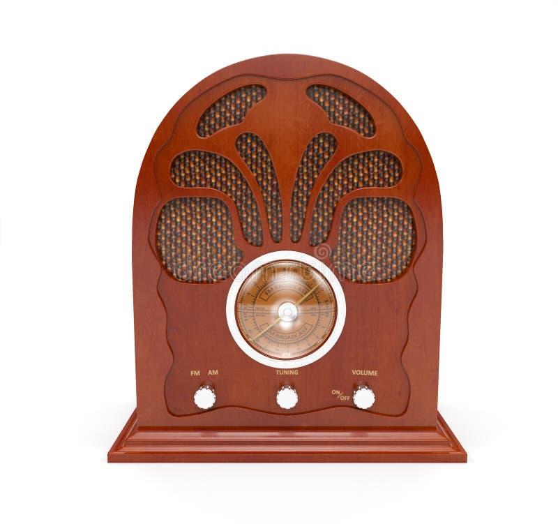Παλαιό ραδιόφωνο στο άσπρο υπόβαθρο στοκ φωτογραφία με δικαίωμα ελεύθερης χρήσης