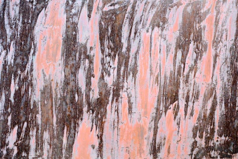 Παλαιό σκουριασμένο μέταλλο με το χρώμα αποφλοίωσης, πολύχρωμο υπόβαθρο στοκ εικόνες