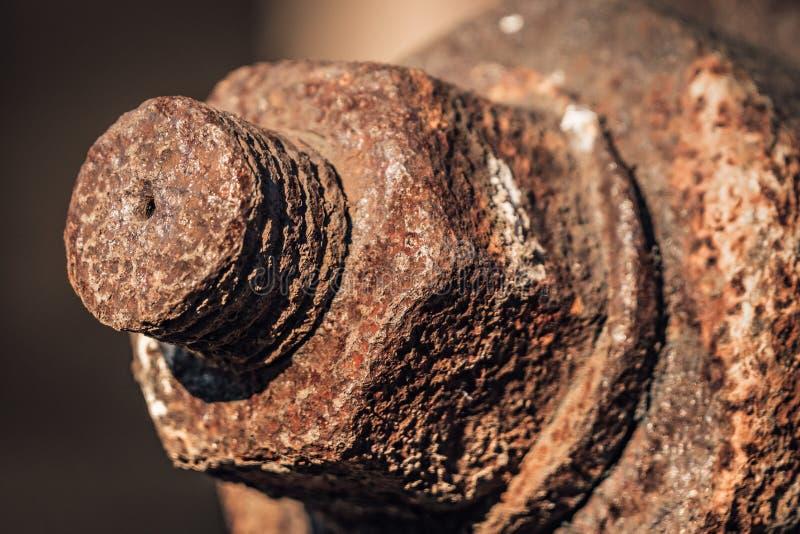 Παλαιό σκουριασμένο μπουλόνι δεκαεξαδικού στοκ εικόνες με δικαίωμα ελεύθερης χρήσης
