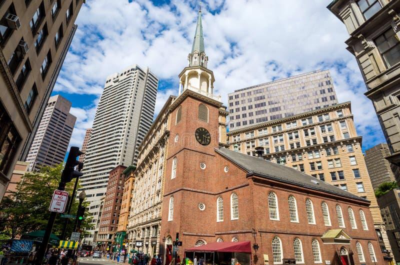 Παλαιό σπίτι νότιας συνεδρίασης στην κάτω πόλη Βοστώνη στοκ εικόνα με δικαίωμα ελεύθερης χρήσης