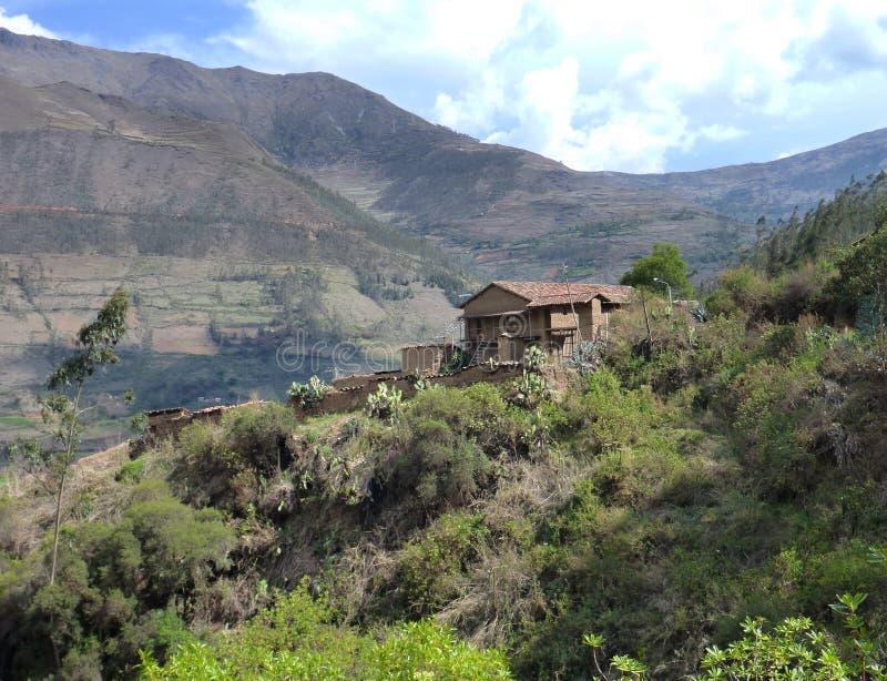 Παλαιό σπίτι στην ιερή κοιλάδα στο Περού στοκ φωτογραφία με δικαίωμα ελεύθερης χρήσης