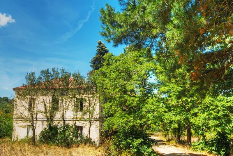 Παλαιό σπίτι στο δάσος του Burgos στοκ εικόνες