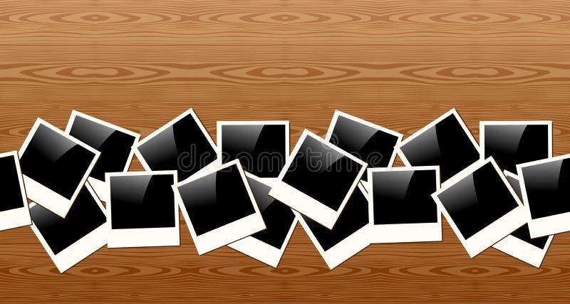 Παλαιό σχέδιο φωτογραφιών Polaroid απεικόνιση αποθεμάτων