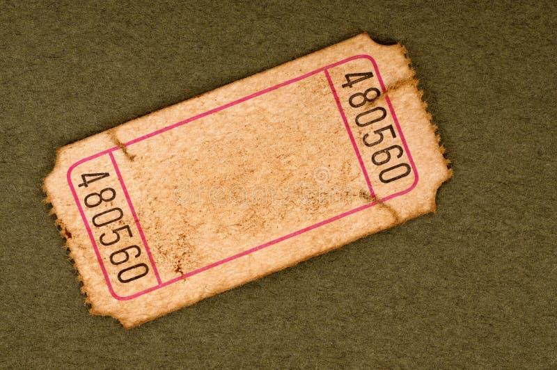 Παλαιό σχισμένο κενό στέλεχος εισιτηρίων στοκ εικόνες