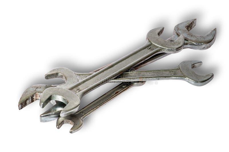 Παλαιό σύνολο γαλλικών κλειδιών στοκ εικόνα
