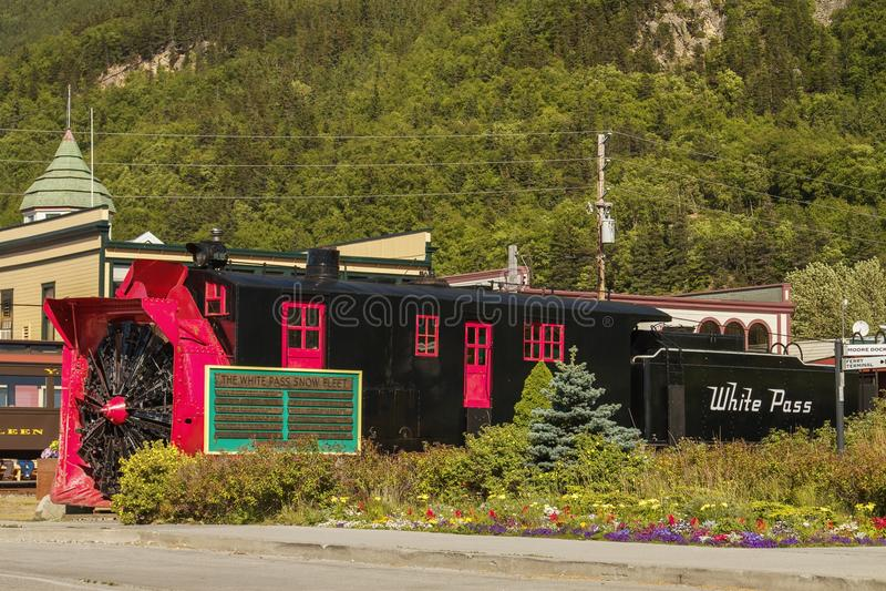 Παλαιό τραίνο ανεμιστήρων χιονιού σε Skagway, Αλάσκα στοκ φωτογραφίες με δικαίωμα ελεύθερης χρήσης
