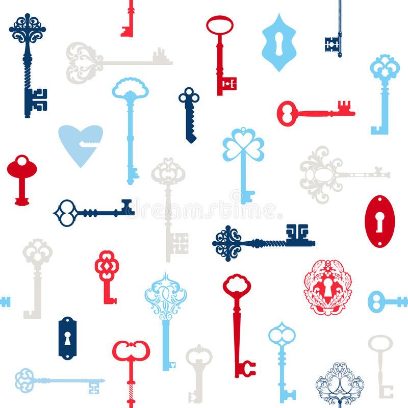 Παλαιό υπόβαθρο κλειδιών ελεύθερη απεικόνιση δικαιώματος