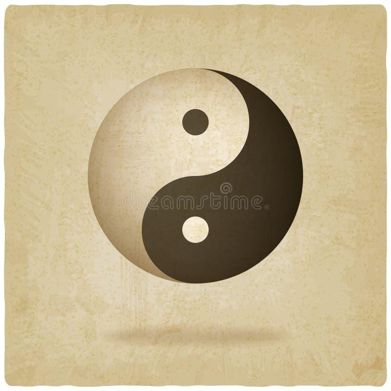 Παλαιό υπόβαθρο Yin yang απεικόνιση αποθεμάτων