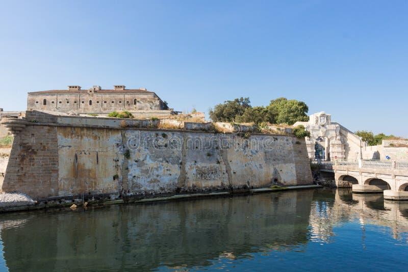 Παλαιό φρούριο bourbun στοκ φωτογραφίες