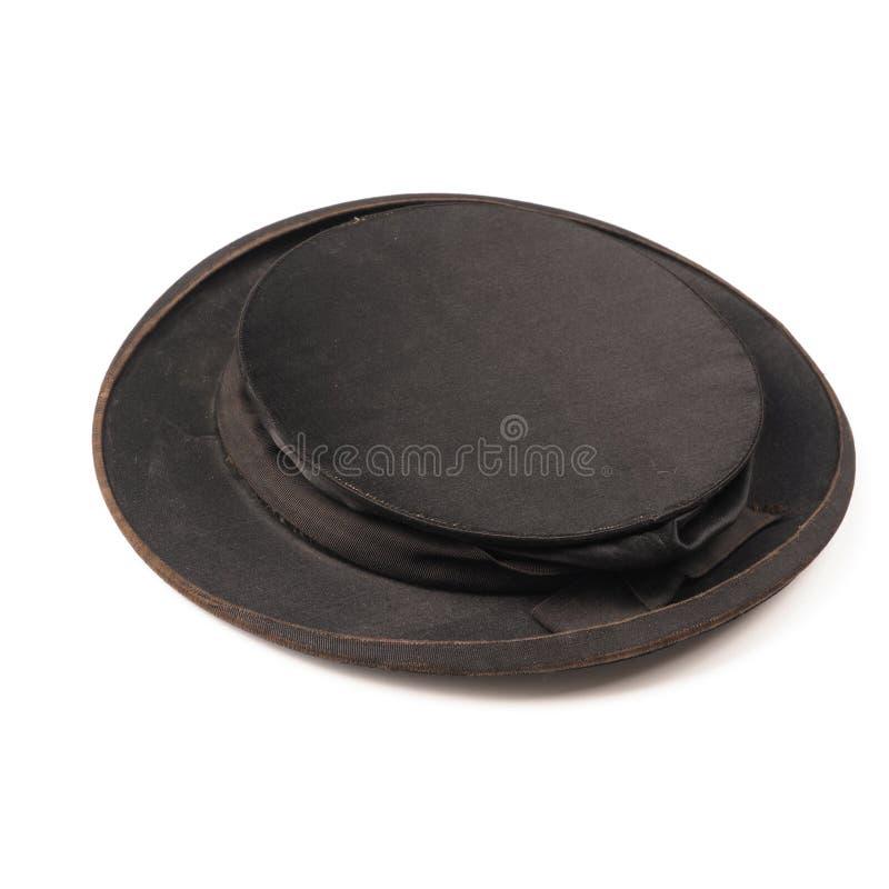 Παλαιό χρησιμοποιημένο chapeau claque στοκ φωτογραφίες
