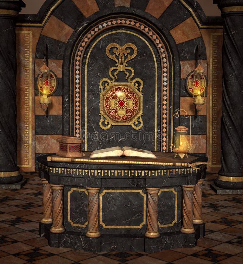 Παλαιό δωμάτιο βωμών διανυσματική απεικόνιση