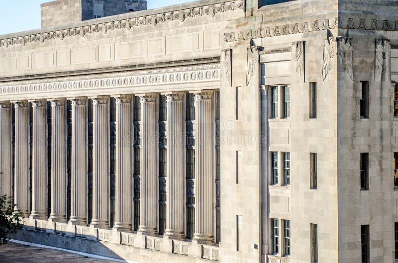 Παλαιό architexture πόλεων του Κάνσας, παλαιό οδικό ταχυδρομείο Pershing στοκ φωτογραφία