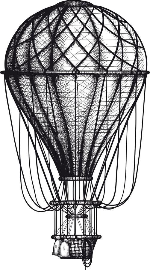 Παλαιό Ballon αέρα διανυσματική απεικόνιση