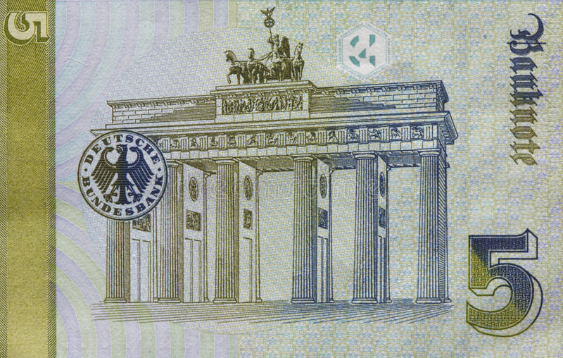 Παλαιό Fife τραπεζογραμμάτιο γερμανικών μάρκων, Μπιλ στοκ φωτογραφίες με δικαίωμα ελεύθερης χρήσης
