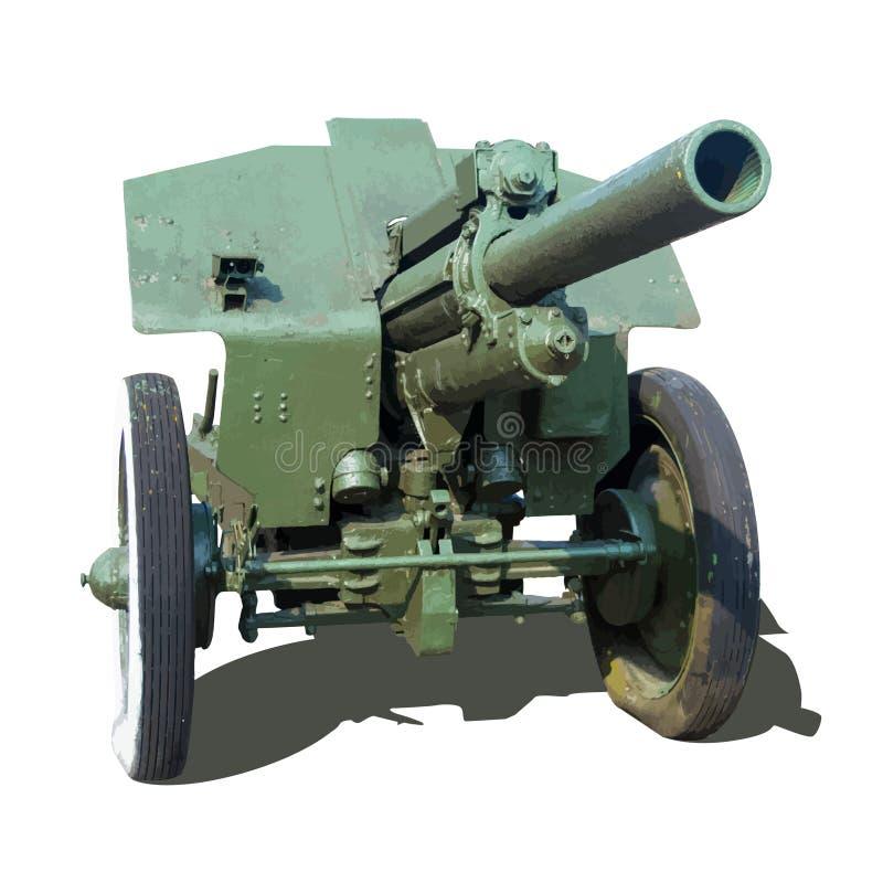 Παλαιό howitzer πυροβόλων όπλων πυροβολικού ελεύθερη απεικόνιση δικαιώματος