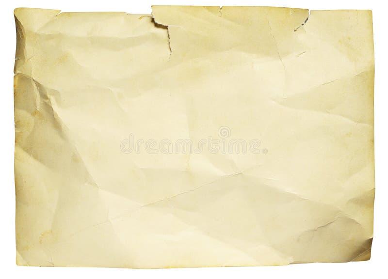 Παλαιό ragged έγγραφο στοκ φωτογραφία