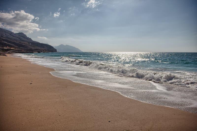 Παλιή παραλία κοντά σε Bukha, στη χερσόνησο Musandam, Ομάν στοκ φωτογραφίες με δικαίωμα ελεύθερης χρήσης