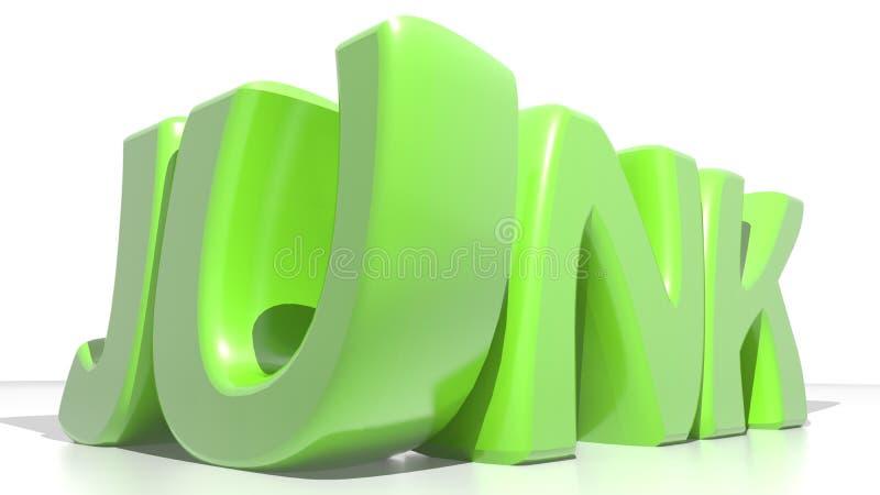 Παλιοπράγματα πράσινα διανυσματική απεικόνιση