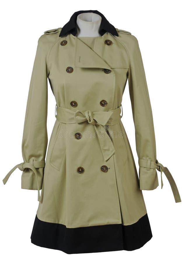 Παλτό που απομονώνεται στο λευκό στοκ εικόνες