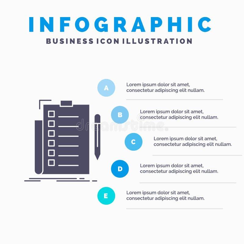 πείρα, πίνακας ελέγχου, έλεγχος, κατάλογος, έγγραφο πρότυπο Infographics για τον ιστοχώρο και παρουσίαση Γκρίζο εικονίδιο GLyph μ ελεύθερη απεικόνιση δικαιώματος