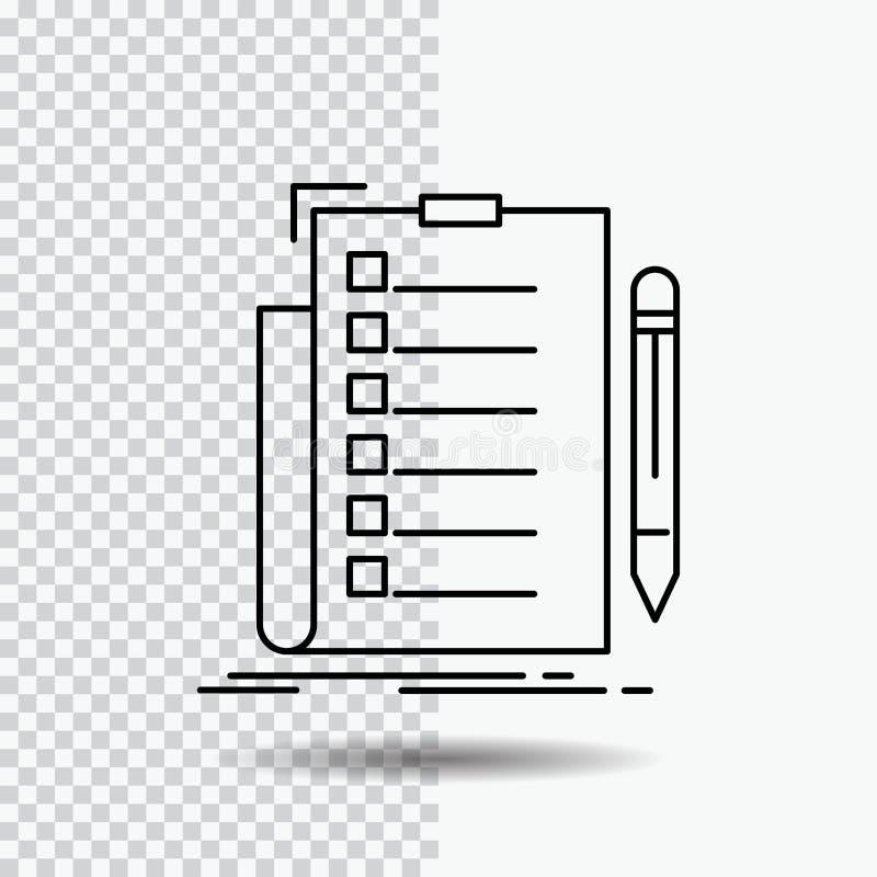 πείρα, πίνακας ελέγχου, έλεγχος, κατάλογος, εικονίδιο γραμμών εγγράφων στο διαφανές υπόβαθρο Μαύρη διανυσματική απεικόνιση εικονι ελεύθερη απεικόνιση δικαιώματος