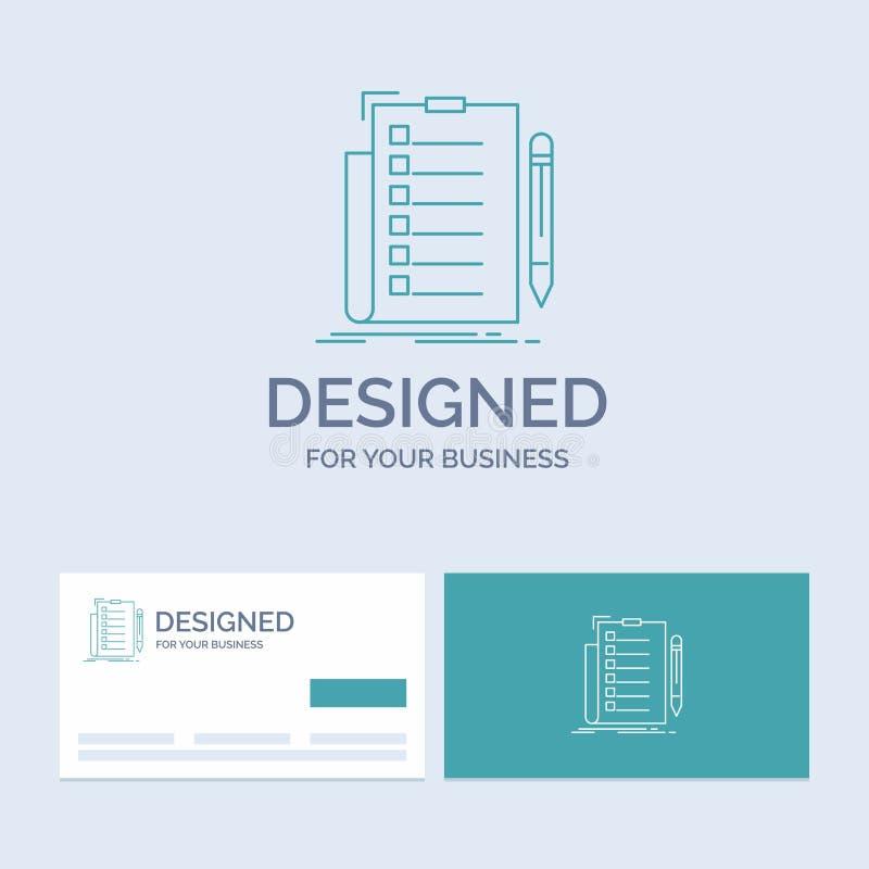 πείρα, πίνακας ελέγχου, έλεγχος, κατάλογος, σύμβολο εικονιδίων γραμμών επιχειρησιακών λογότυπων εγγράφων για την επιχείρησή σας Τ απεικόνιση αποθεμάτων