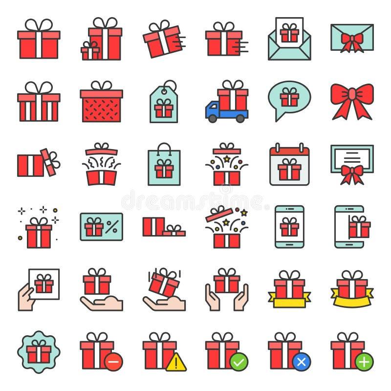 Πεδίο δώρων ή παρόν εικονίδιο πεδίων, γεμισμένη περίληψη διανυσματική απεικόνιση